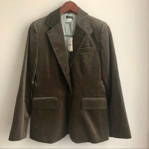 NWT J. Crew velvet cotton blazer